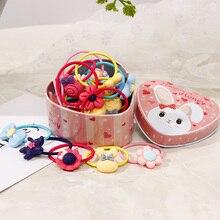 New Gift Box Girls Cute Cartoon Elastic Hair Bands Headwear Scrunchies Rubber Bands Headbands Hair Accessories