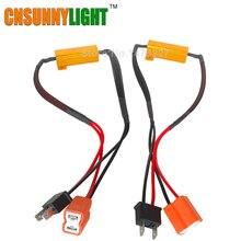 CNSUNNYLIGHT Lâmpada LED Adaptador de Cablagem Canbus Decoder Resistor 50 w 6/8ohm 9-14 V para H4 H7 H8 H9 H11 HB3 Carro faróis
