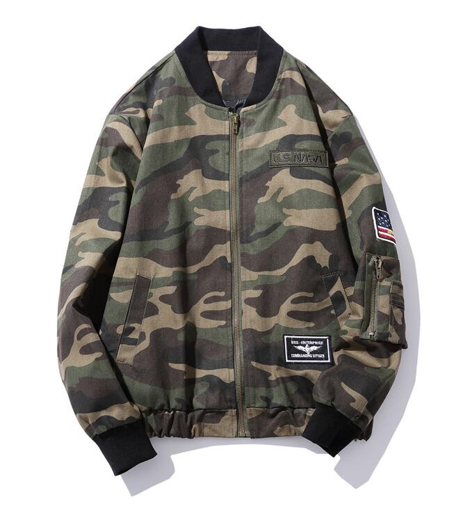 new style 9605a c35ba US $32.6 |Yizlo army camouflage bomber jacket uomo donna giubbotti  streetwear masculina jaqueta veste homme primavera m65 militare camo 5xl-in  Giacche ...