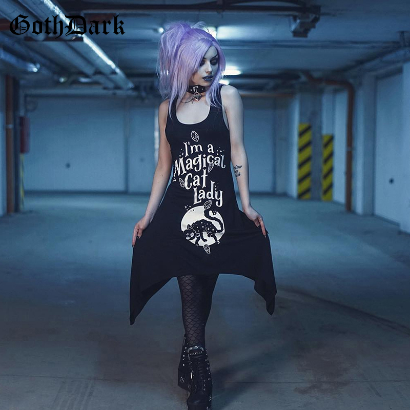 Goth Dark Letter Print Grunge Black Harajuku Dresses Gothic Off shoulder Summer 2019 Aesthetic Fashion Sexy Dress Streetwear in Dresses from Women 39 s Clothing