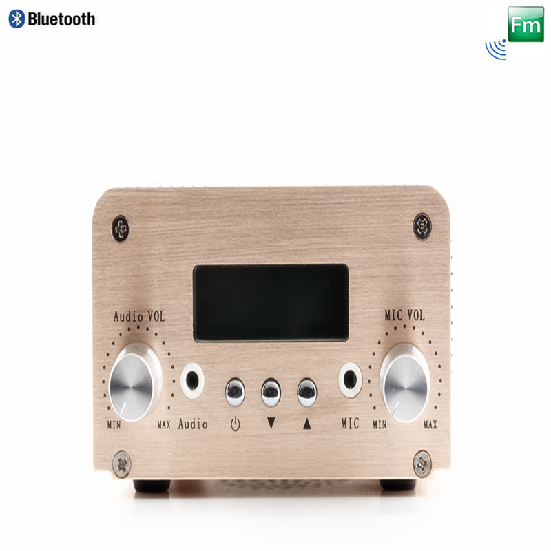 Free Shipping NIO-T6B 1W/6W Stereo Audio Wireless Transmitter with PC Control and Bluetooth Connection Function free shipping nio t6b 6w fm radio broadcast bluetooth transmitter car with bluetooth and pc control