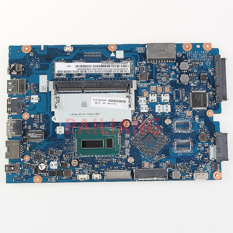 PAILIANG Laptop motherboard for Lenovo Ideapad 100 14IBD PC Mainboard I3 5005U 5B20K50557 CG410 CG510 NM