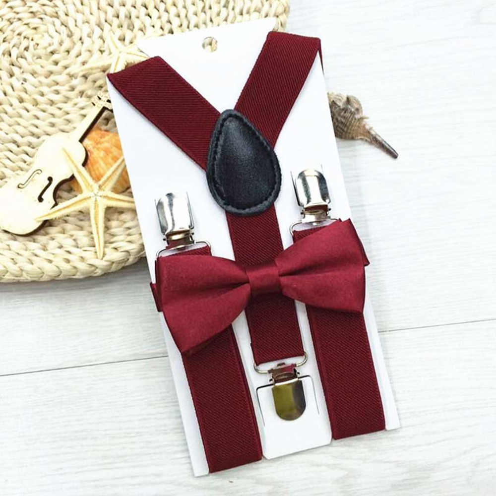 ab6b5e74664fb Braces for children suspenders With Bowtie Bow tie Set Matching Ties  Outfits Suspender Girl Boys Adjustable Elasticated Braces