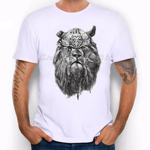 Men's Viking Lion Design T-Shirt