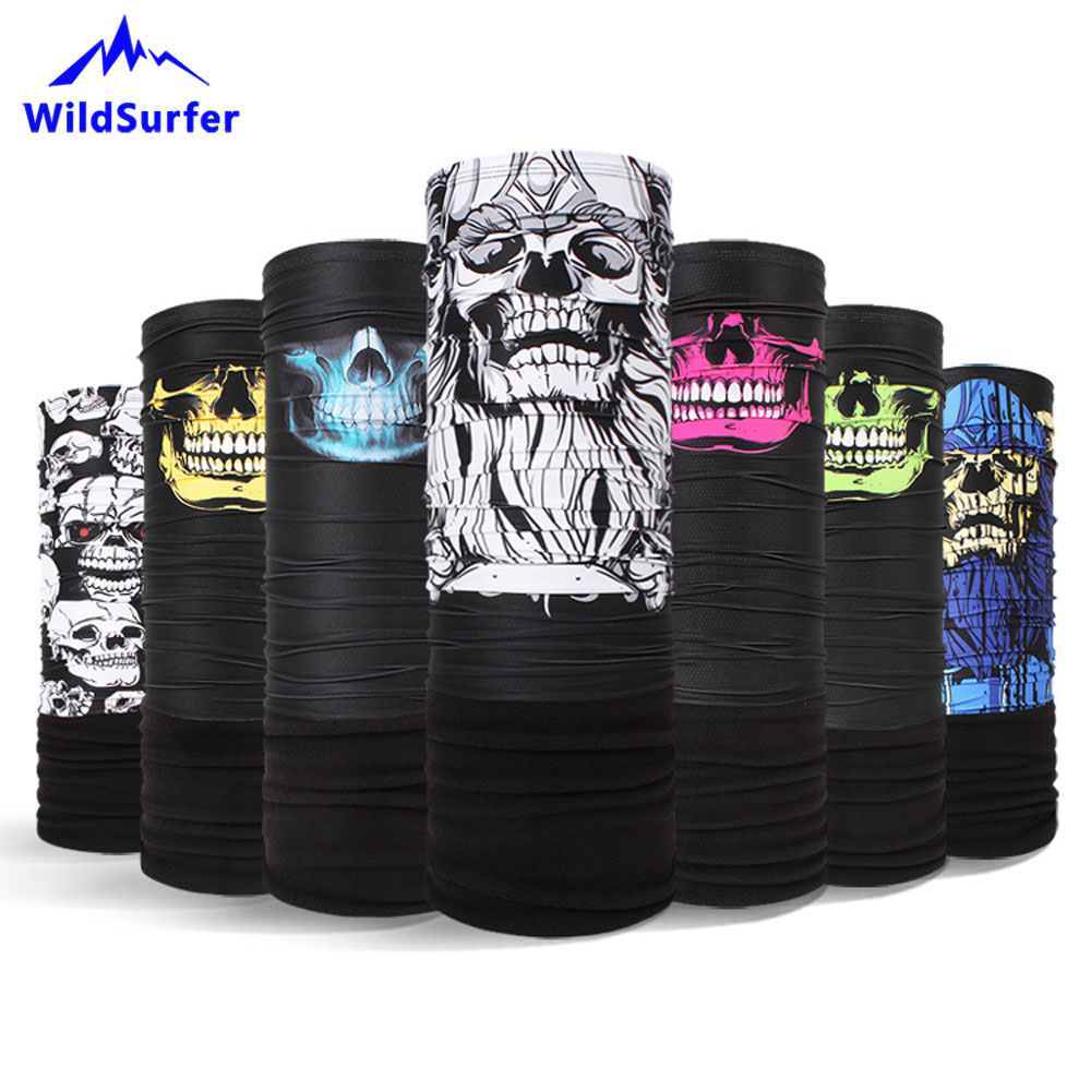 WildSurfer Quality Skull Fleece Multi Scarves Men Hiking Scarf Neck Warmer Cycling Caps Breathable No Pilling No Curling FJ29
