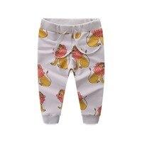 דפוסי ציפורים האריה מכנסיים בנות בני אופנה אביב קיד הרמון בגדי מכנסיים מכנסיים נשים לילדים כותנה באיכות גבוהה 6 סגנון