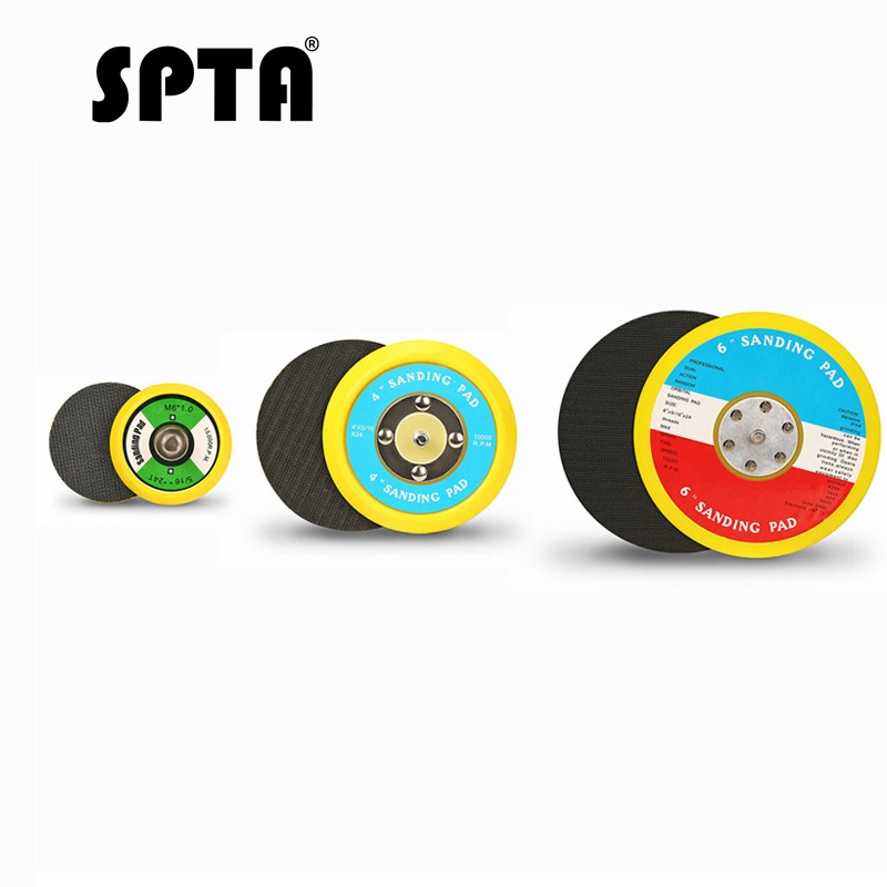 SPTA Backer Backing Plate Pad 2Inch/3inch/4inch/5inch/6inch Hook&Loop For Air Sander Car Polisher Buffing -- Select Size
