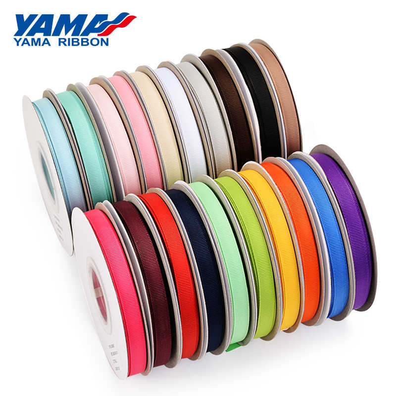 "Yama Pita Grosiran 6 9 13 16 25 38 Mm 25 Yard/Roll 1/4 ""3/8"" 1/2"" 5/8 ""1"" 1.5 ""Inch Kerajinan Packing Pernikahan Handmade Pita"