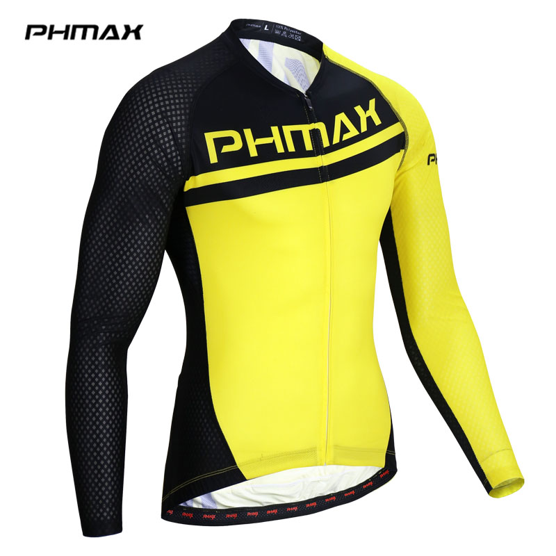 PHMAX Pro Cycling Jerseys Men Long Sleeve Breathable MTB Bike Clothes Bicycle Clothing Maillot Ropa Ciclismo Cycling Sportwear