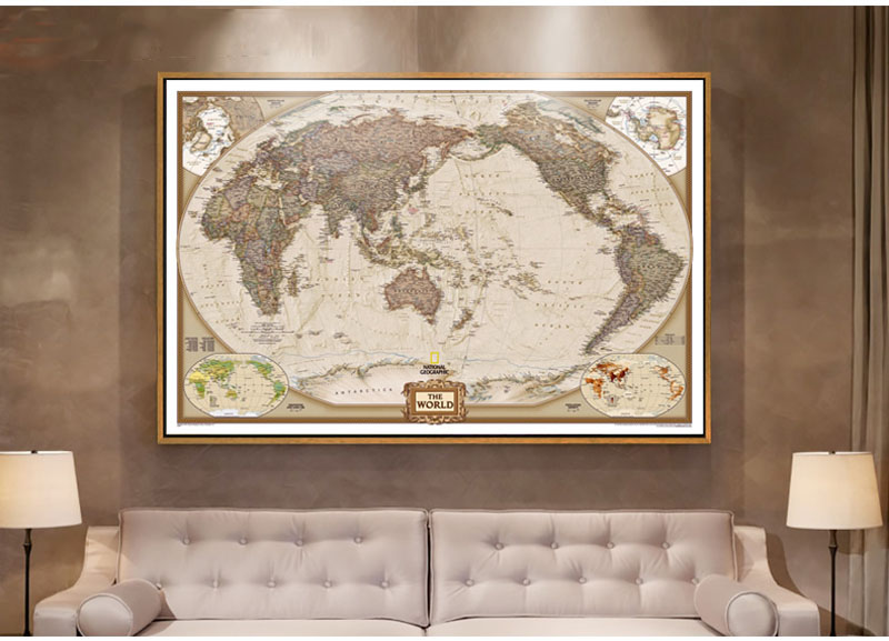 60x96 world classic wall map huge mural world political map rushed sticker classic world map english for retro kraft paper classic world map poster gumiabroncs Image collections