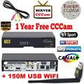 V8 Ouro DVB-S2/DVB-T2 DVB-C Receptor de satélite Apoio Receptor Europa cccam Cline 1 USB WIFI set top box