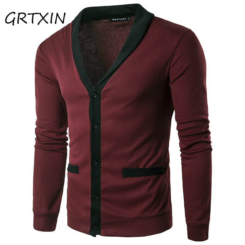 Men Sweaters Knitted Cardigan Long Sleeve Casual Knitwear Patchwork Spring New Sweatercoat Jacket Classic Social Overwear