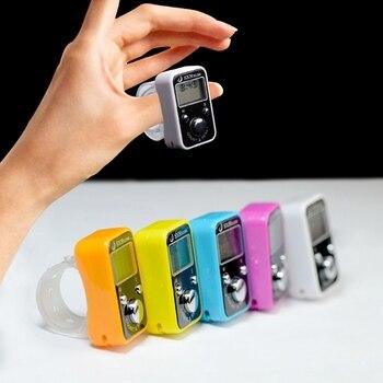 OOTDTY, deporte de golf Digital, dedo de mano, contador de registro de anillo con reloj, pantalla LCD de tiempo