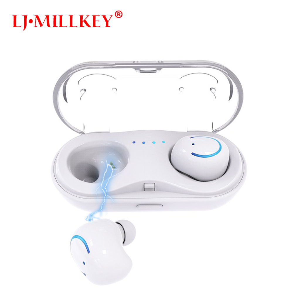 TWS Bluetooth Earphones Binaural Wireless Headsets Mini Fone De Ouvido Invisible Dual Earbuds With Charging Box YZ142 ttlife wireless bluetooth 4 1 earphone one drag two earbuds in ear headsets noise cancelling with mic car charger fone de ouvido