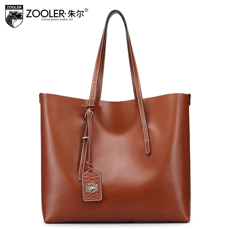 ZOOLER women handbags 2017 solid large capacity genuine leather bag real leather shoulder bag luxury  bolsa feminina #6981 forudesigns casual women handbags peacock feather printed shopping bag large capacity ladies handbags vintage bolsa feminina