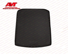Trunk mats for Skoda Superb 2008-2015 station wagon 1 pcs rubber rugs non slip rubber interior car styling accessories