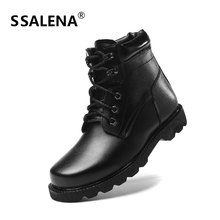 Men Winter Lace Up Short Boots Male Warm Fur Casual  Motorcycle Ankle Boots Men Fashion High Top Leather Shoes EU38-48 AA60536
