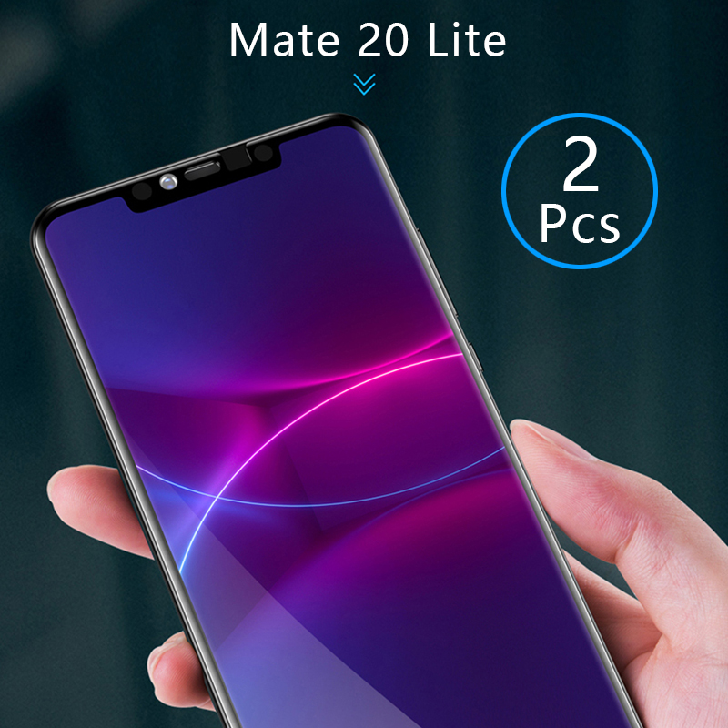 2pcs Tempered Glass For Huawei Mate 20 Lite Case Full Cover Screen Protector Protective Safety Tremp