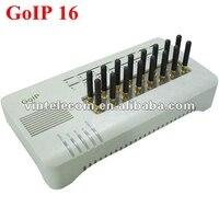 Оригинальный DBL 16 sims gsm Шлюзы VoIP DBL goip 16 Шлюзы VoIP IMEI изменчива поддержка смс (с короткими антеннами)