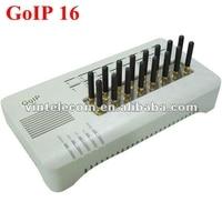 Original DBL 16 SIMs GSM VOIP gateway DBL GOIP 16 VoIP Gateway IMEI changeable support bulk SMS ( with short antennas)