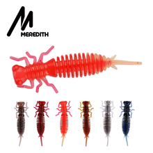 MEREDITH Larva 50mm 62mm 85mm Soft Plastic Lures Floating Freshwater Swimbaits Silicone Bait Worm For Fishing