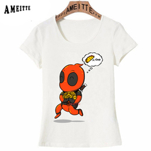 7c3b1c894 AMEITTE Summer Infinite Tacos Deadpool Print T-Shirt Funny Cartoon Design  Woman