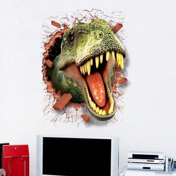 Fashion D Jurassic World Park Dinosaurs Wall Stickers Kids Rooms - Jurassic world wall decals