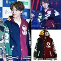 2017 Woman's fashion kpop BTS JIMIN baseball uniform cotton hoodie coat with hat Men's fashion Sweatshirts Top Free shipping