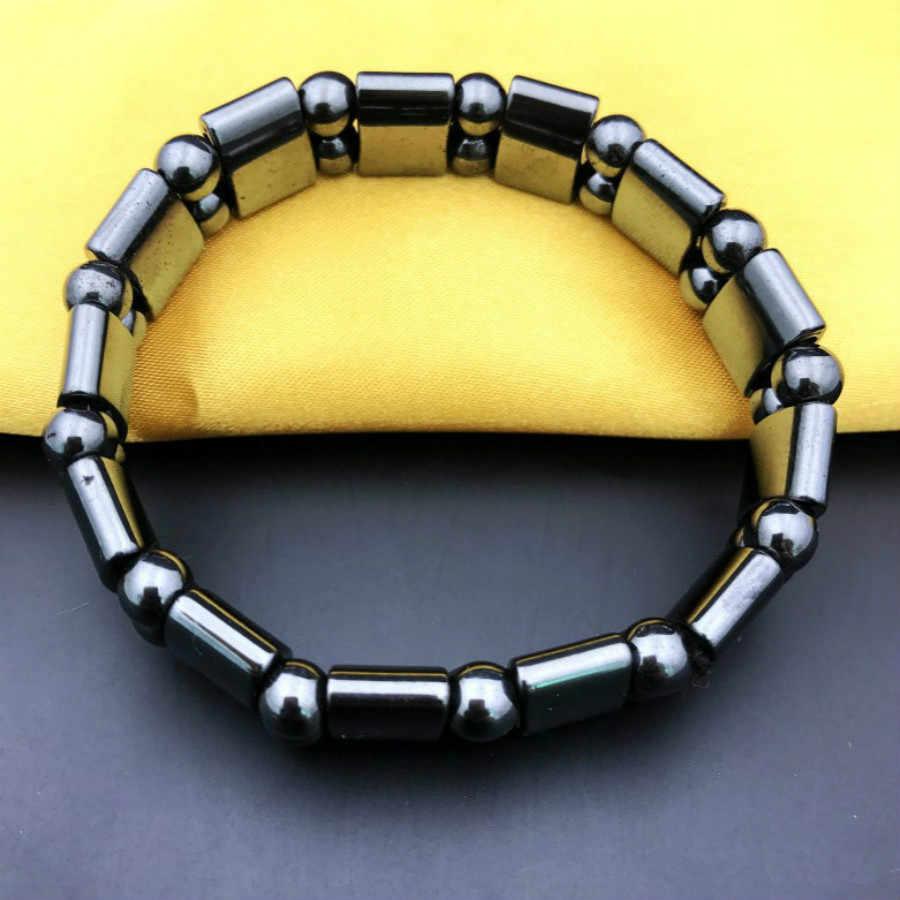 1 sztuk sprzedam Charm bransoletki czarny przywracając dawne sposoby styl nowy projekt mężczyźni bransoletka kamień magnetyczne naturalne czarny ręcznie sieci trakcyjnej