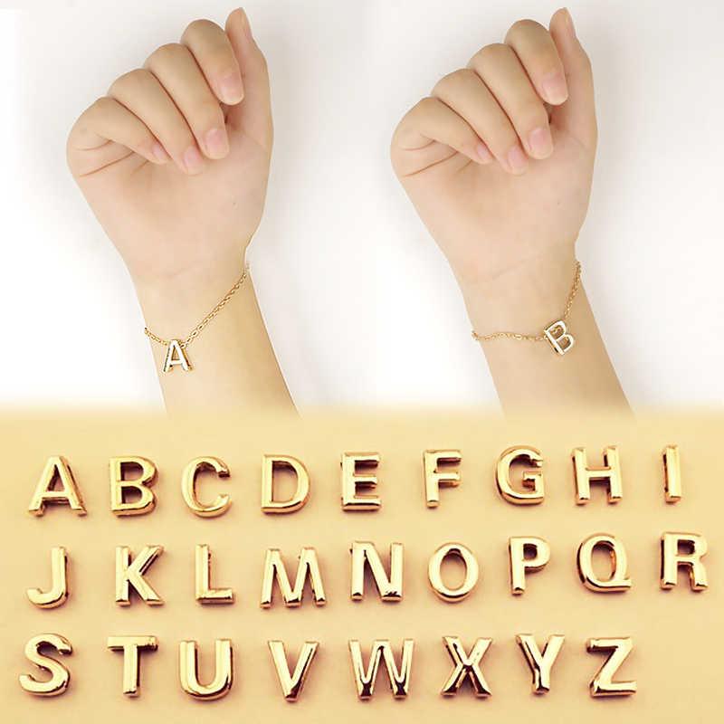 LNRRABC Fashion Bracelets English Letters Women Bracelets Trendy Jewelry For Ladies Summer Accessories Friend Gifts Golden Color