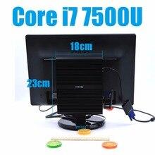 i7 7500U Kaby Lake Intel Core i7 Barebone 7500U Fanless Gaming Mini PC Windows Linux HTPC TV Box UHD 4K Micro Desktop Computer(China (Mainland))