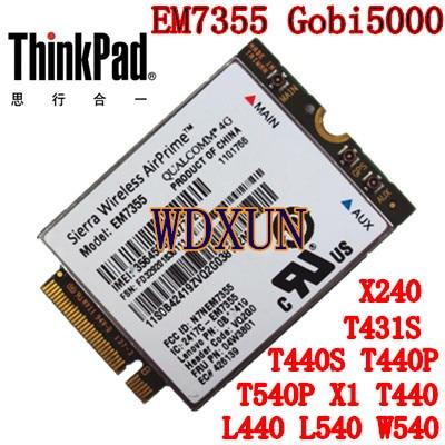 Sierra Gobi5000 EM7355 LTE/EVDO/HSPA+ 42Mbps NGFF Card 4G Module for Lenovo Thinkpad T431s T440 T440s T440p T540P W540 X240(China)