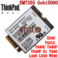 Serra EM7355 Gobi5000 LTE / EVDO / HSPA  42 Mbps 4 G Módulo Para Lenovo Thinkpad NGFF T431s T440 T440s T440p T540P W540 X240