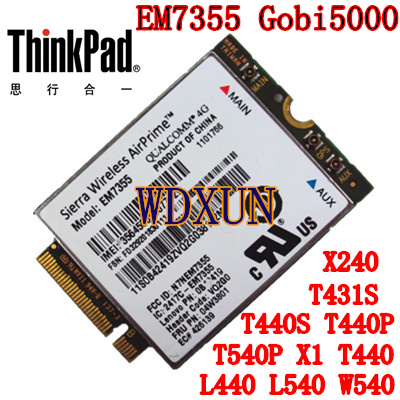 Sierra Gobi5000 EM7355 Lte/evdo/hspa 42 Mbps Ngff Card 4g Module Voor Lenovo Thinkpad T431s T440 T440s T440p T540P W540 X240