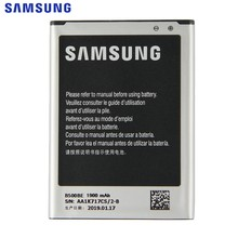 Batterie de remplacement d'origine SAMSUNG B500BE pour Samsung GALAXY S4 Mini I9190 I9192 I9195 I9198 S4Mini batterie 3 broches 1900 mAh(China)