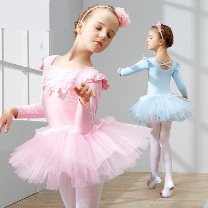 2017 new Kids Leotards Gymnastics Ballet Tutu Dancewear Balett Girls 110 150cm Clothes Ballerina Dress Children Ballet Clothing