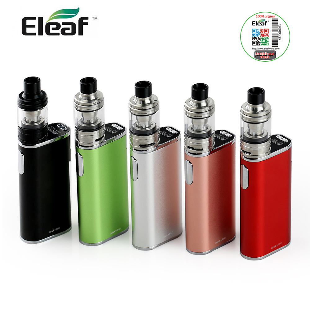 Original Eleaf iStick MELO with MELO 4 kit with 2ml capacity 510 thread Top Display electronic cigarette vape kit original eleaf istick power nano kit 2ml melo 3 nano tank 40w istick power nano battery mod 510 thread vape e cigarette