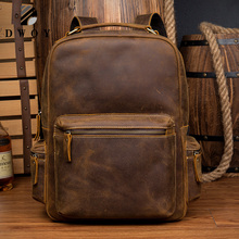 New Genuine Leather Backpack Men Vintage Laptop Crazy Horse Leather backpacks for school bag mochilas travel backpack male bag|leather backpack bag|backpack bag|backpack school women - AliExpress