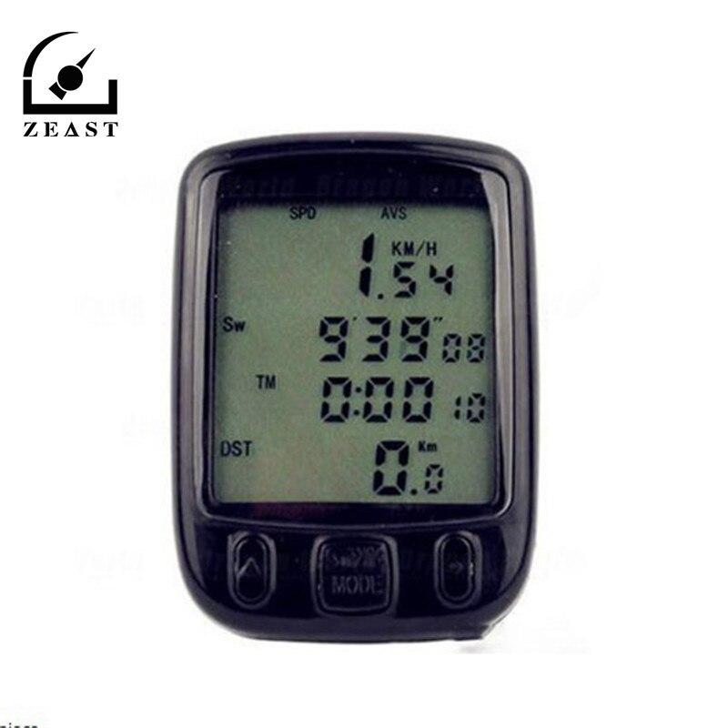 Waterproof LCD Display Multifunction Cycling Bike Bicycle Computer Odometer Speedometer with Green Backlight