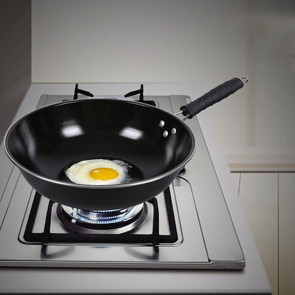 Poêle à fond plat en acier inoxydable