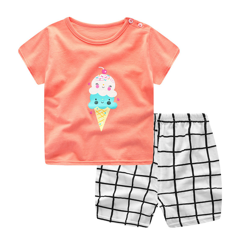 Baby Girl Boy Clothes Set Newborn Infant Baby Boys Girls Cartoon Cat Tops Shirt+Pants Outfits Set for Kids Set DropShipping,Xm30