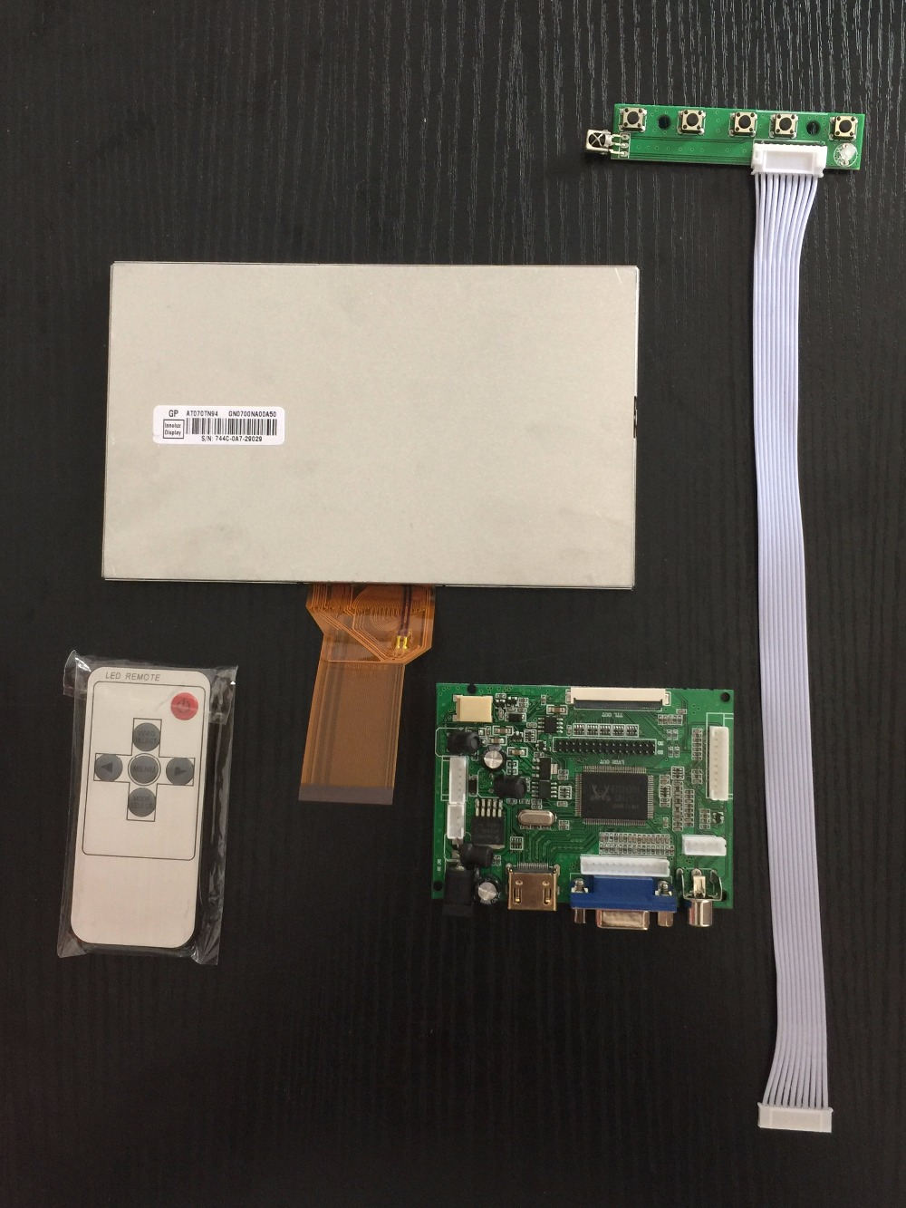 7 inch 800*480 TFT LCD display with HDMI VGA 2AV driver board controller board for Raspberry Pi