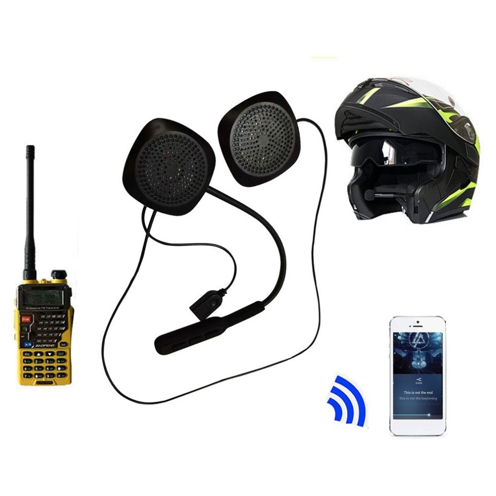 Motorbike Helmet Bluetooth Headsets Wireless Headphone 4.2 Long Standby Dual Stereo Speaker-Hand free Mic Earphone for phone