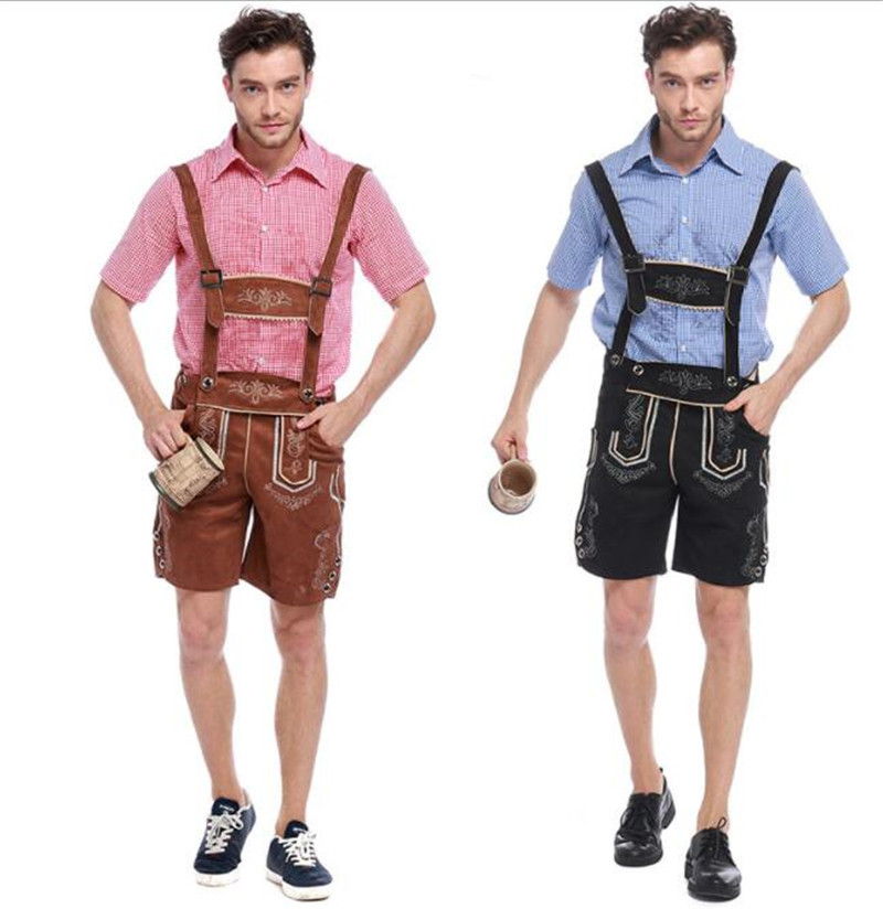 2 colors fashion man Germany Bavaria Oktoberfest beer festival work clothes Costume Halloween Carnival Party Cosplay  A033
