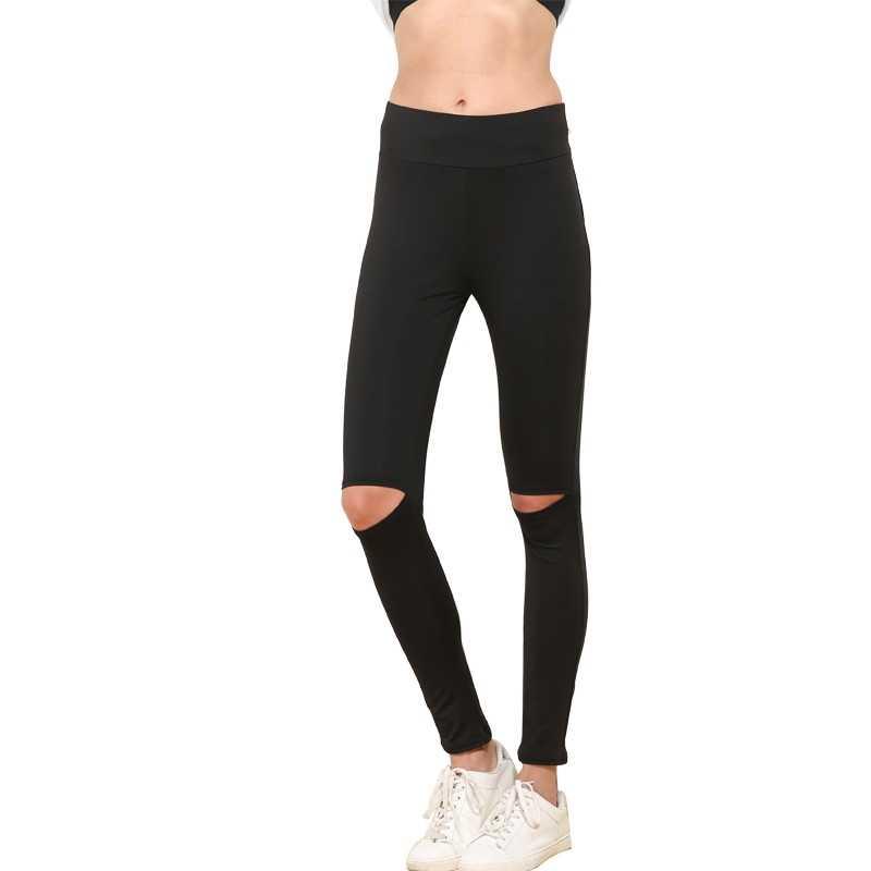 SVOKOR S-XL kobiety Push Up legginsy wysokiej talii zgrywanie legginsy odzież sportowa oddychająca szczupła czarne legginsy kobiet