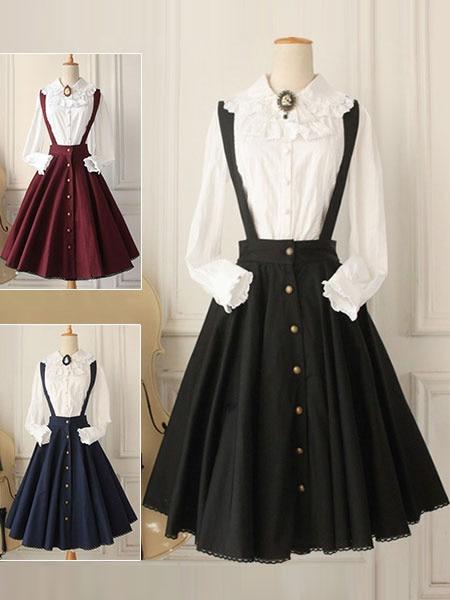 Robe Lolita classique régression croisée JSK Lolita jupe chasuble