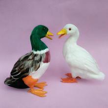 large 25x27cm artificial duck plastic&furs feathers duck model handicraft prop home garden decoration gift p0939