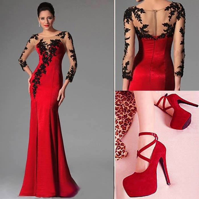 Beautiful red gowns online shopping-the world largest beautiful ...