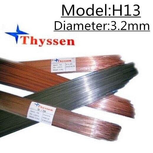 1KG/Pack Thyssen H13 of 3.2mm TIG  Welding wires & Repairing Mould argon Soldering Wires B111