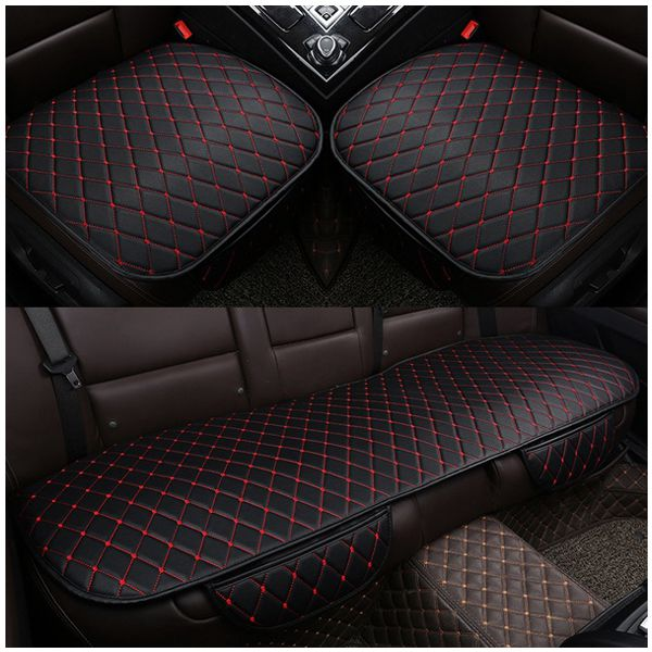 1 sets PU Leather Car Seat Cover Pad for Auto Seat Cushion Protection Pad Mat, Black+red 1 sets pu leather car seat cover pad for auto seat cushion protection pad mat black white
